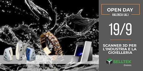Open Day: Scanner 3D per l'industria e la gioielleria biglietti