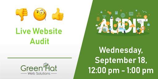 Live Website Audit During Denver Startup Week