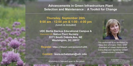 Advancements in Green Infrastructure Plant Selection and Maintenance tickets