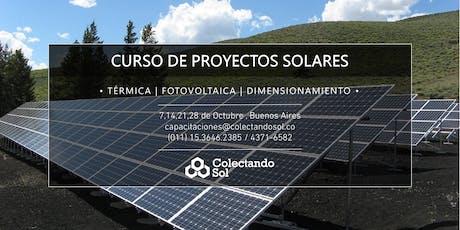 Curso de Proyectos Solares // Buenos Aires Octubre 2019 entradas