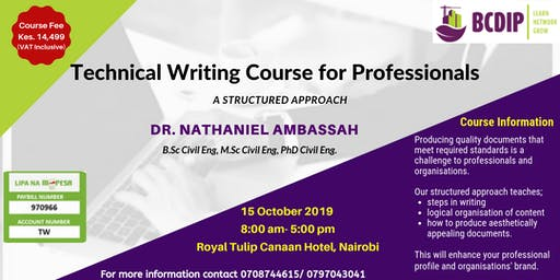 Technical Writing Course for Professionals