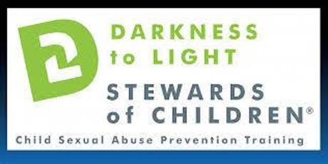 Saturday, October 19, 2019  Darkness to Light's: Stewards of Children - Abuse and Neglect Prevention Training tickets