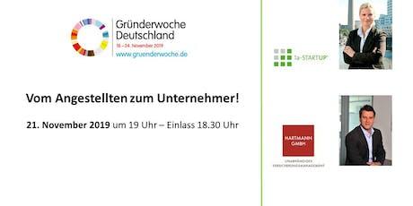 Gründerwoche Deutschland: Vom Angestellten zum Selbstständigen Tickets