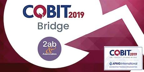 COBIT 2019 Bridge - Formation accréditée par ISACA billets