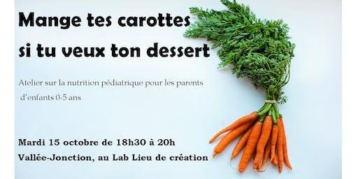 Atelier sur la nutrition pédiatrique pour les parents