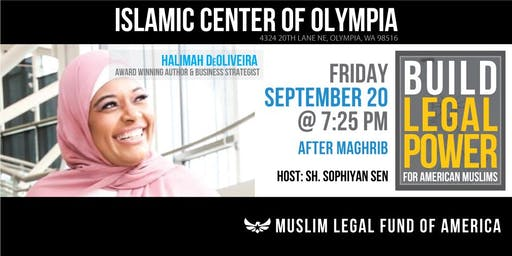 Build Legal Power for American Muslims with Halimah DeOliveira - Olympia, WA