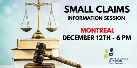 Free session for all: SMALL CLAIMS COURT tickets