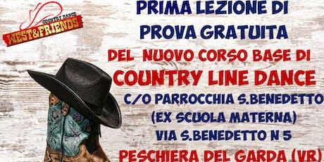 LEZIONE DI PROVA GRATUITA A PESCHIERA DEL GARDA (VR) -COUNTRY LINE DANCE biglietti