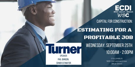 Capital for Construction: Estimating with Turner Construction tickets