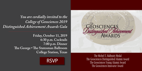 2019 College of Geosciences Distinguished Achievement Awards tickets