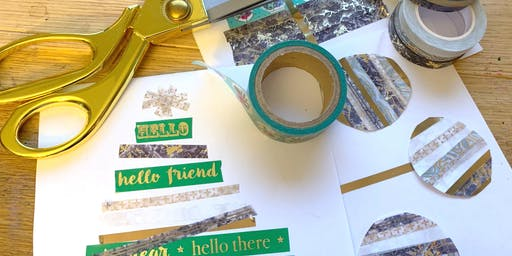 Make Holiday Cards With Washi Tape