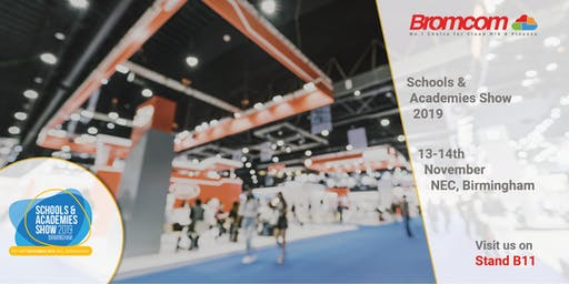 Join Bromcom at The Schools & Academies Show2019