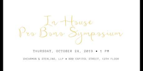 In-House Pro Bono Symposium tickets