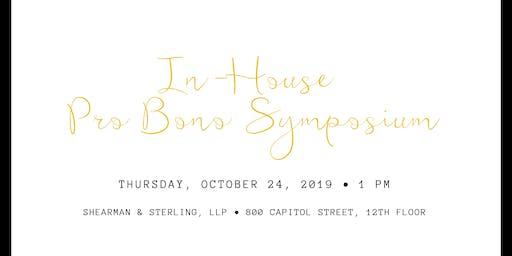 In-House Pro Bono Symposium