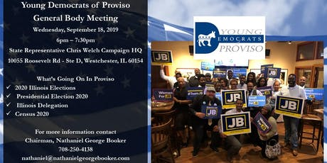 Young Democrats of Proviso - September 2019 General Body Meeting tickets