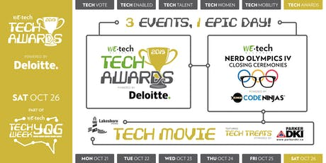 TECH AWARDS: 3 Events, 1 EPIC Day tickets
