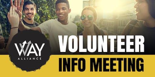 WAY Alliance New Volunteer Information Meeting (Lewisville)
