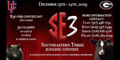 The Southeastern Three Livestock Judging Contest tickets