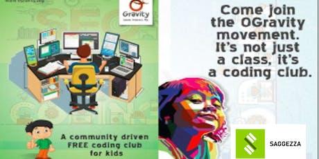 0 Gravity - Kids Coding Club with Saggezza tickets