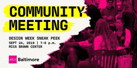 Community Meeting: September 2019 tickets