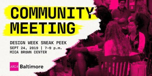 Community Meeting: September 2019