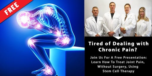 September 24th - FREE Stem Cell Therapy Presentation & Lunch  -- Learn How This Natural Therapy is Transforming Lives! --