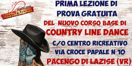 LEZIONE DI PROVA GRATUITA A PACENGO DI LAZISE (VR) - COUNTRY LINE DANCE biglietti