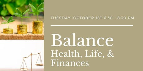 Balancing Life, Health, and Finances tickets