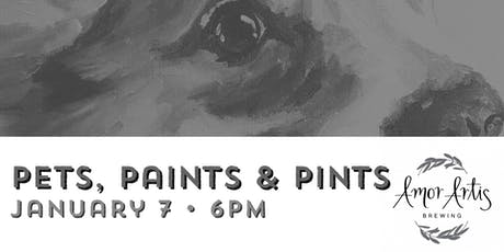 Pets, Paints & Pints at Amor Artis tickets