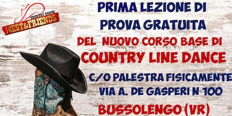 LEZIONE DI PROVA GRATUITA A BUSSOLENGO (VR) - COUNTRY LINE DANCE biglietti