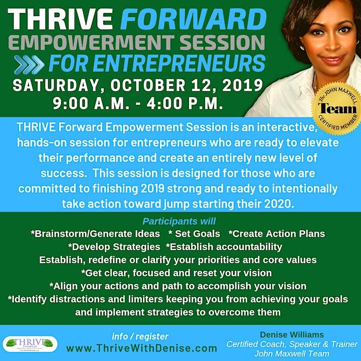 THRIVE Forward Empowerment Session for Entrepreneurs image