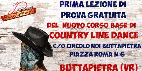 LEZIONE DI PROVA GRATUITA A BUTTAPIETRA (VR) - COUNTRY LINE DANCE biglietti