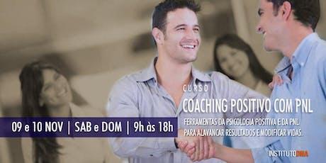 CURSO COACHING POSITIVO COM PNL ingressos