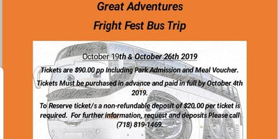 Fright Fest Great Aventures Bus Trip