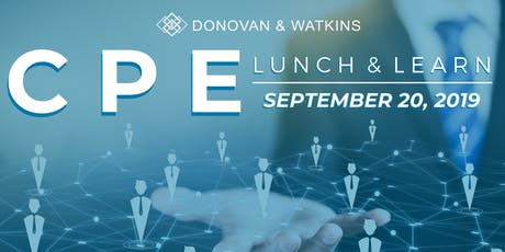 DonWat Houston *Complimentary* CPE September Lunch & Learn tickets