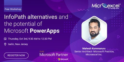 Iselin, NJ: Workshop on InfoPath replacements and potential of PowerApps