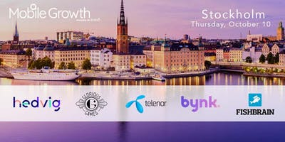 Mobile Growth Stockholm w/Hedvig, Glorious Games, Bynk, Telenor & Fishbrain