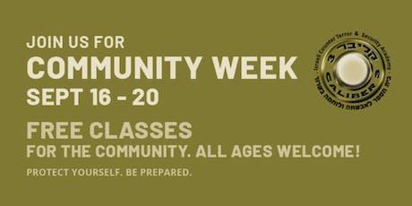 Caliber 3 USA: Community Week- FREE classes all week tickets