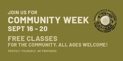 Caliber 3 USA: Community Week- FREE classes all week