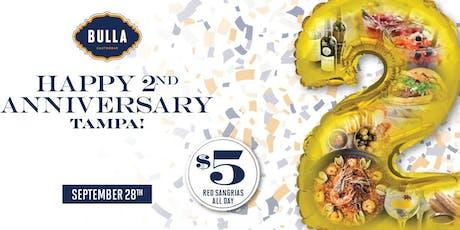 2-Year Anniversary Fiesta at Bulla Gastrobar Tampa tickets