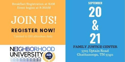 Neighborhood University 2019 - Engage in the Experience
