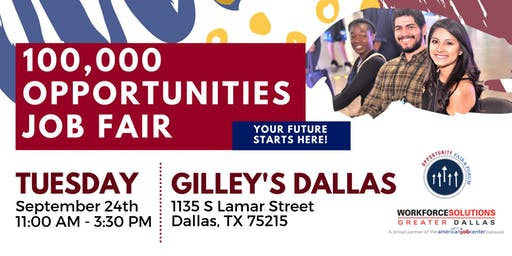 Dallas 100K Job Fair - Fall 2019