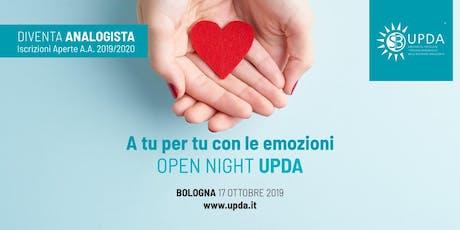A tu per tu con le emozioni, Open Night Upda biglietti