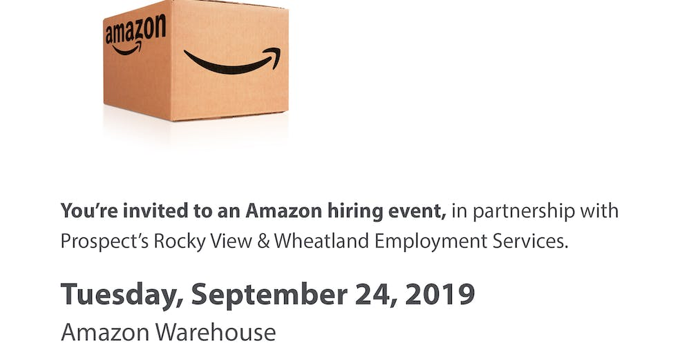 AMAZON HIRING EVENT in partnership with Prospect's Rocky
