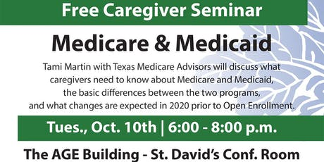Medicare and Medicaid for Caregivers tickets