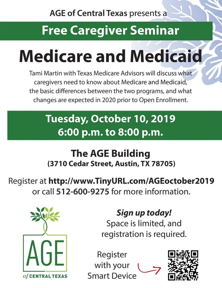 Medicare and Medicaid for Caregivers Tickets, Thu, Oct 10