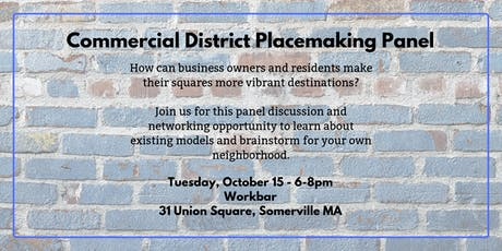 Commercial District Placemaking Panel tickets