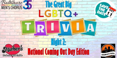 The Great Big LGBTQ+ Trivia Night 2: National Coming Out Day Edition tickets