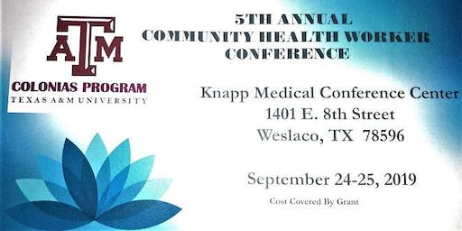 5th ANNUAL COMMUNITY HEALTH WORKER CONFERENCE