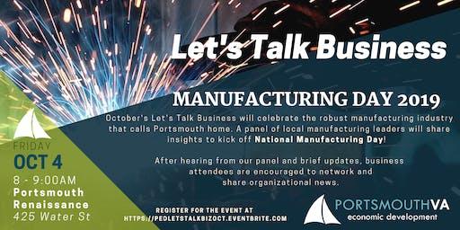 October Let's Talk Business | Portsmouth Economic Development Series